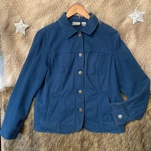 Chico's Embroidered Blue Jacket
